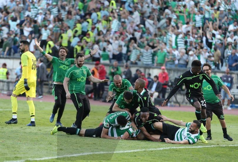 Durante o jogo Sporting CP x FC Porto, em Lisboa, no Centro Desportivo Nacional do Jamor